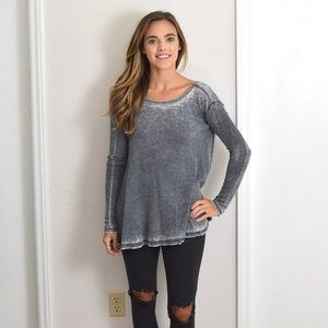 Free People We The Free Burnout Long Sleeve Tee XS
